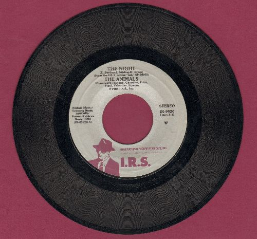 Animals - The Night/No John No  - EX8/ - 45 rpm Records