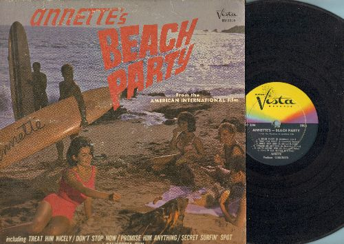 Annette - Annette's Beach Party: Treat Him Nicely, Don't Stop Now, Promise Him Anything, Secret Surfin' Spot, California Sun, Pineapple Princess (vinyl MONO LP record) (Sound Track of American International Fillm -Beach Party-) - VG6/VG6 - LP Records
