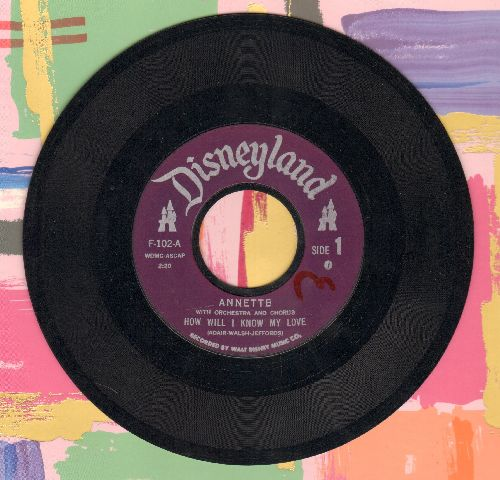 Annette - How Will I Know My Love/Don't Jump To Conclusions (purple label first issue) - EX8/ - 45 rpm Records