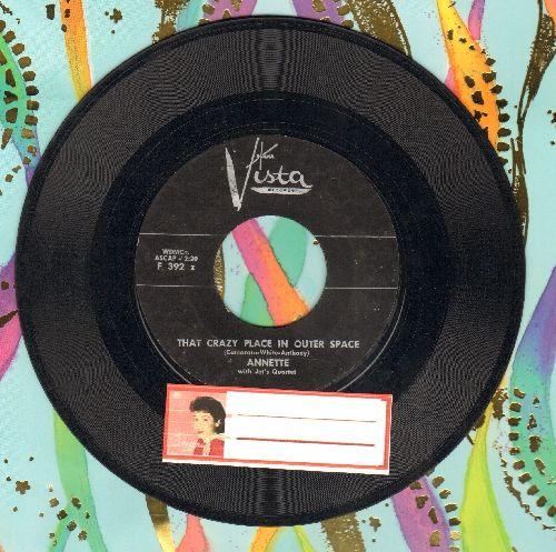 Annette - That Crazy Place In Outer Space/Seven Moons - VG7/ - 45 rpm Records