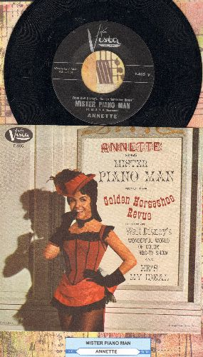 Annette - Mister Piano Man/He's My Ideal (MINT condition with RARE picture sleeve) - M10/NM9 - 45 rpm Records
