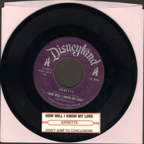 Annette - How Will I Know My Love/Don't Jump To Conclusions (purple label first issue with juke box label) - NM9/ - 45 rpm Records