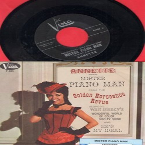 Annette - He's My Ideal/Mister Piano Man (with RARE picture sleeve, MINT condition!) - M10/M10 - 45 rpm Records