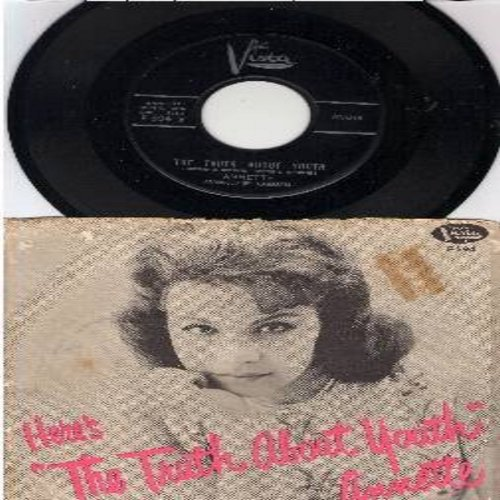 Annette - The Truth About Youth/I Can't Do The Sum (with RARE picture sleeve) - M10/VG6 - 45 rpm Records