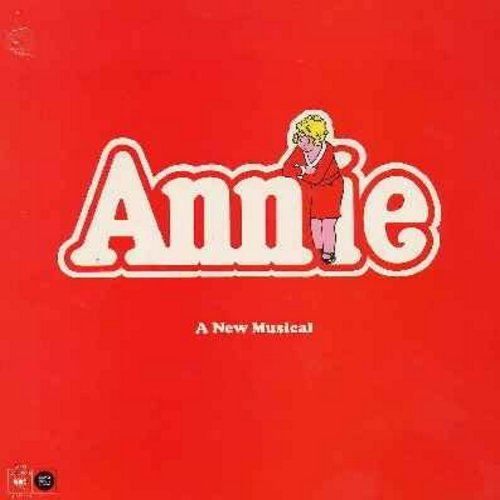 Annie Original Cast - Annie - Original Broadway Cast Recording featuring Andrea McArdle as Little Orphan Annie. 1977 first issue vinyl LP record, gate-fold cover. - NM9/NM9 - LP Records
