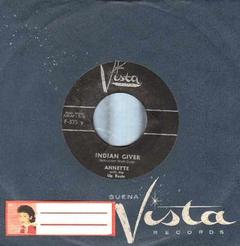 Annette - Indian Giver/Mama Rosa (Where's The Spumoni?) (with RARE Vista company sleeve) - EX8/ - 45 rpm Records