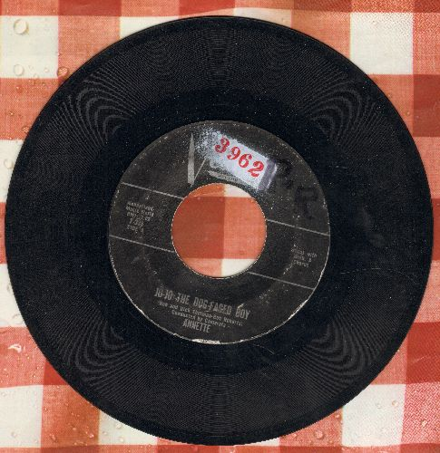 Annette - Jo-Jo The Dog-Faced Boy/Lonely Guitar (black label first issue, wol) - VG7/ - 45 rpm Records