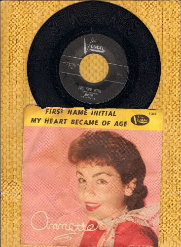 Annette - First Name Initial/My Heart Became Of Age (with picture sleeve) - NM9/VG6 - 45 rpm Records