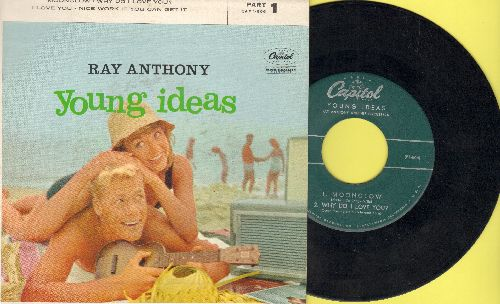 Anthony, Ray - Young Ideas (Part 1): Moonglow/Why Do I Love You?/I Love You/Nice Work If You Can Get It (vinyl EP record with picture cover) - NM9/EX8 - 45 rpm Records