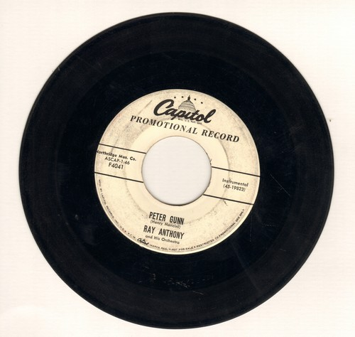 Anthony, Ray - Peter Gunn (double-A-sided with DJ advance pressing) - EX8/ - 45 rpm Records