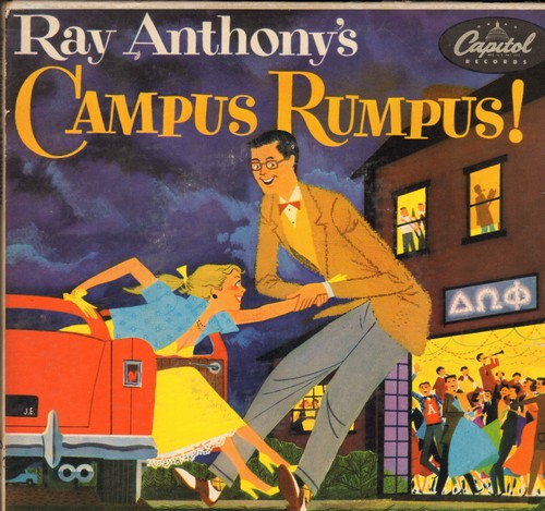 Anthony, Ray & His Orchestra - Campus Rumpus!: Dancing On The Ceiling/The Continental/True Blue Lou/It's D-Lovely + 4 (2 vinyl EP records in gate-fold cover) - VG7/VG7 - 45 rpm Records