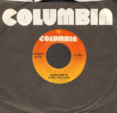 Aerosmith - Come Together/Kings And Queens (with Columbia company sleeve) - NM9/ - 45 rpm Records