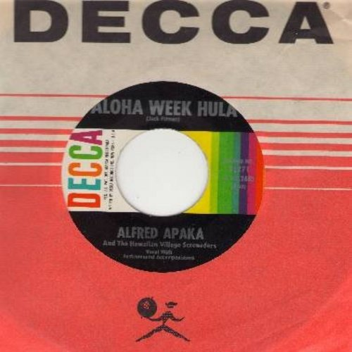 Apaka, Alfred - Aloha Week Hula/Lehuanani (with Decca company sleeve) - NM9/ - 45 rpm Records