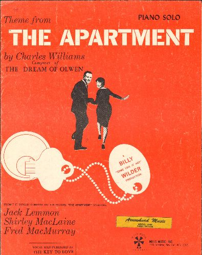 The Apartment - The Apartment - Vintage SHEET MUSIC for the theme song from the Oscar-Winning Billy Wilder Classic. NICE cover art! - VG7/ - Sheet Music