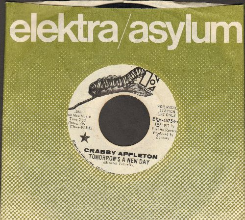 Appleton, Crabby - Tomorrow's A New Day/It's So Hard (DJ advance pressing with Elektra company sleeve) - EX8/ - 45 rpm Records