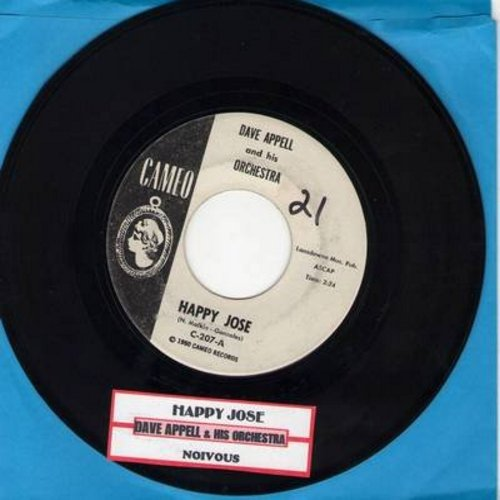 Appell, Dave & His Orchestra - Happy Jose/Noivous (DJ advance copy with juke box label) (minor wol) - EX8/ - 45 rpm Records