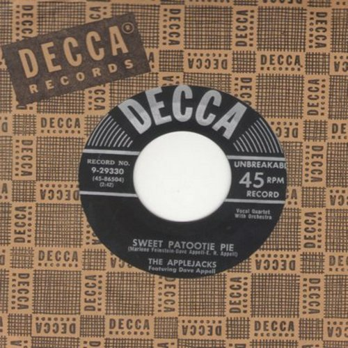 Applejacks - Sweet Patootie Pie/Reunion (with vintage Decca company sleeve) - M10/ - 45 rpm Records
