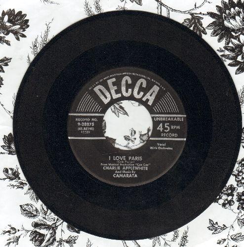 Applewhite, Charlie & Music By Camarata - I Love Paris/Ebb Tide - EX8/ - 45 rpm Records