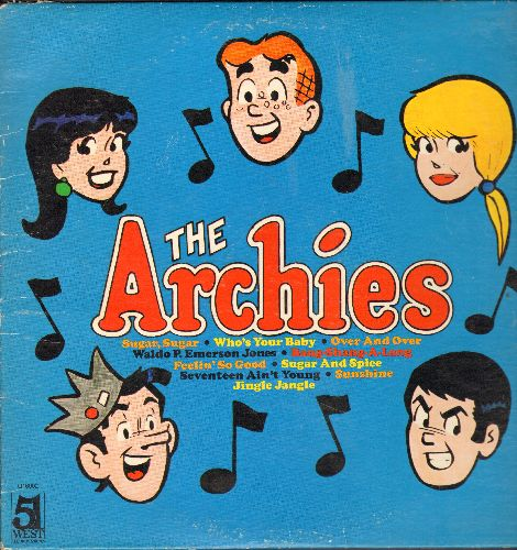 Archies - The Archies: Sugar Sugar, Who's Your Baby, Jingle Jangle, Sugar And Spice (vinyl STEREO LP record) - VG7/VG7 - LP Records