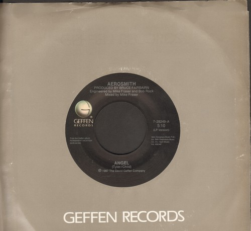 Aerosmith - Angel/Girl Keeps Coming Apart (with Geffen company sleeve) - NM9/ - 45 rpm Records