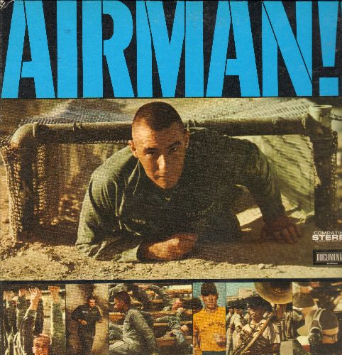 Airman!! - Airman!! - United States Air Force Basic Trainign In Sound! - Narrators: John Hart, Richard Tufeld, Jeff Baugher (vinyl LP record with picture pages) - EX8/EX8 - LP Records