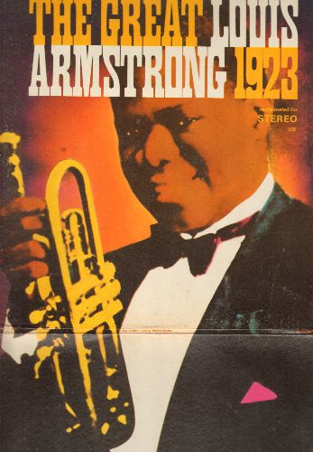 Armstrong, Louis - The Great Louis Armstrong 1923: Alligator Hop, Canal Street Blues, Dipper Mouth Blues (vinyl LP record, STEREo-RE-CHANNELED 1970s issue of vintage Jazz recordings, gate-fold cover) - NM9/EX8 - LP Records