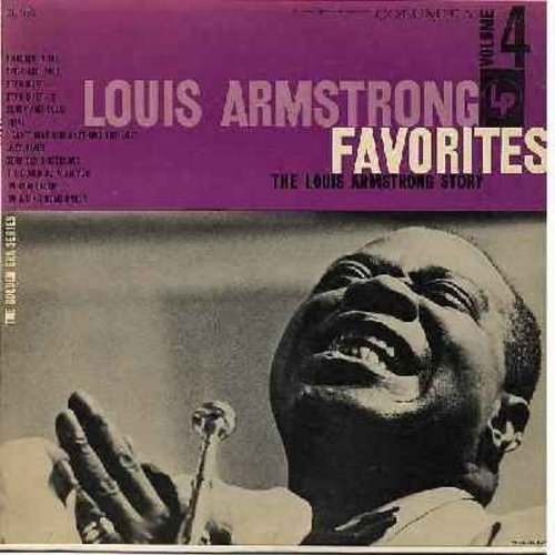 Armstrong, Louis - The Louis Armstrong Story Vol. 4: Body And Soul, Black And Blue, I Can't Give You Anything But Love, Lazy River, I'm A Ding Dong Daddy (vinyl MONO LP record, red label, 6 white eyes) - M10/EX8 - LP Records
