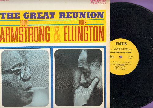 Armstrong, Louis & Duke Ellington - The Great Reunion: It Don't Mean A Thing, Don't Get Around Much Anymore, Just Squeeze Me, Azalea (vinyl STEREO LP record, 1980s issue of vintage Jazz recordings) - NM9/NM9 - LP Records