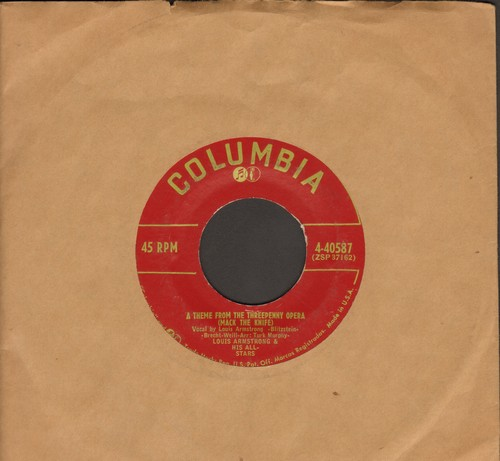 Armstrong, Louis & His All-Stars - Mack The Knife/Back O' Town Blues   - VG6/ - 45 rpm Records