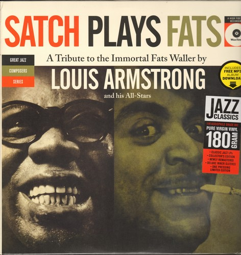 Armstrong, Louis - Satch Plays Fats - A tribute to the Immortal Fats Waller: Honeysuckle Rose, Ain't Misbehavin', Sqeeze me (vinyl LP record, 180 gram Virgin Vinyl re-issue, EU pressing, SEALED, never opened!) - SEALED/SEALED - LP Records