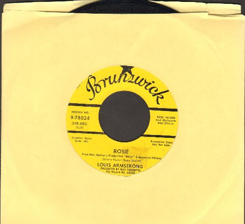Armstrong, Louis - Rosie (from film -Rosie-) (DJ copy) - NM9/ - 45 rpm Records