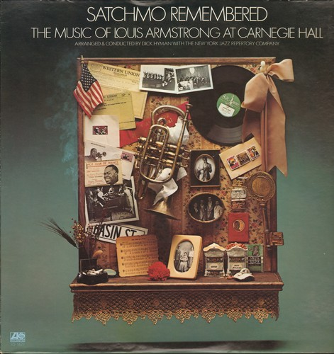 Armstrong, Louis - Stachmo Remembered - The Music Of Louis Armstrong At Carnegie Hall - Arranged and conducted by Dick Hyman with the New York Jazz Reportory Company (vinyl STEREO LP record) - NM9/NM9 - LP Records