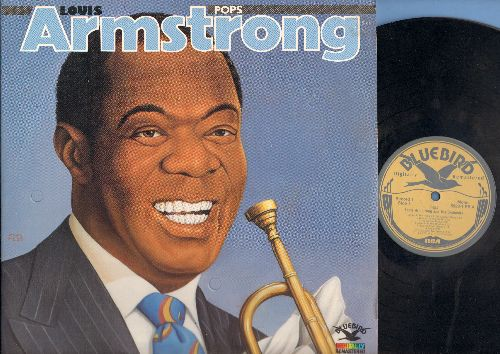 Armstrong, Louis - Pops: Linger In My Arms, The Blues Are Brewin', I Wonder, I Believe,, Rain Rian, Sugar, Blues In The South, Rockin' Chair, Fifty-Fifty Blues, A Song Was Born, Lovely Weather We're Having (vinyl 2 LP record set) - NM9/NM9 - LP Records