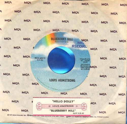 Armstrong, Louis - Bluberry Hill/Hello, Dolly! (double-hit re-issue with MCA company sleeve) - NM9/ - 45 rpm Records
