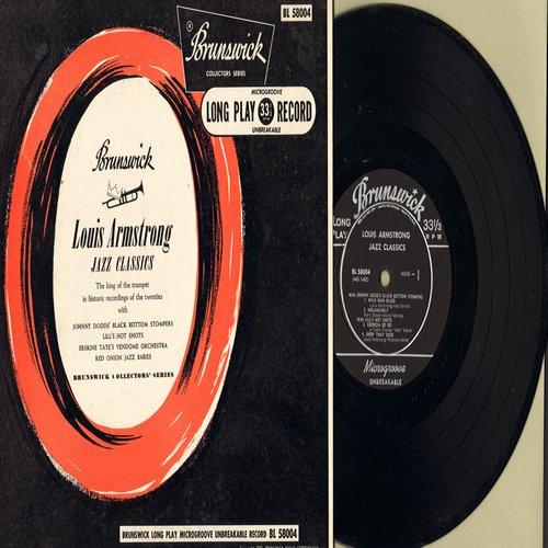 Armstrong, Louis - Jazz Classics: Wild Man Blues, Melancholy, Georgia Bo Bo, Drop That Sack, Santa Claus Blues + 3 (10 inch Mini-LP with picture cover) - NM9/EX8 - LP Records