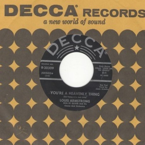 Armstrong, Louis - You're A Heavenly Thing/The Prisoner's Song (with vintage Decca company sleeve) - NM9/ - 45 rpm Records