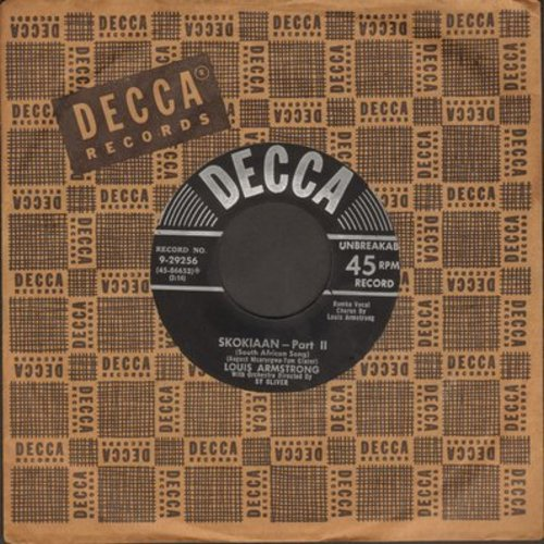 Armstrong, Louis - Skokiaan (Parts 1 + 2) (with vintage Decca company sleeve) - EX8/ - 45 rpm Records