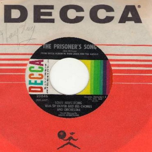 Armstrong, Louis - The Prisoner's Song/I'll String Along With You (with Decca company sleeve) - EX8/ - 45 rpm Records