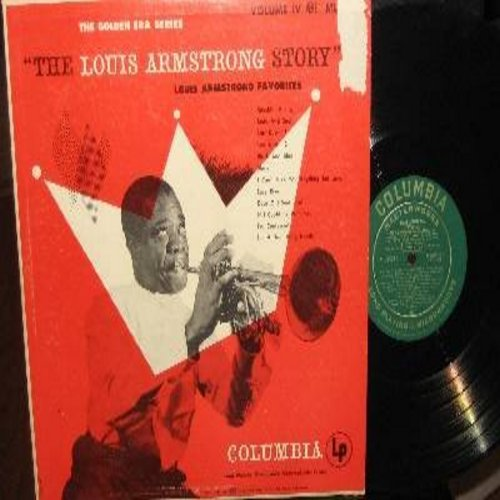 Armstrong, Louis - The Louis Armstrong Story Vol. 4: Body And Soul, Black And Blue, I Can't Give You Anything But Love, Lazy River, I'm A Ding Dong Daddy (vinyl MONO LP record, RARE 1951 green label first issue!) - EX8/VG7 - LP Records