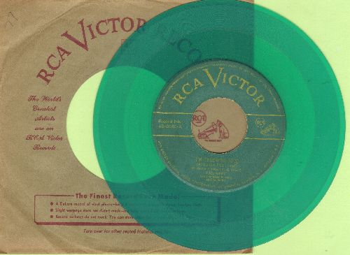 Arnold, Eddy - I'm Throwing Rice (At The Girl That I Love)/Show Me The Way Back To Your Heart (GREEN Vinyl 1949 first pressing with vintage RCA company sleeve) - VG7/ - 45 rpm Records