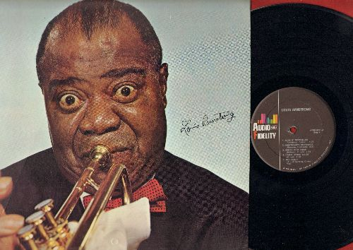 Armstrong, Louis - Louis Armstrong: Bill Bailey, Cornet Chop Suey, Sugar Foot Stomp (vinyl STEREO LP record, cover has BONUS prop-up stand on back unharmed, to pop-up cover as picture!) - M10/NM9 - LP Records
