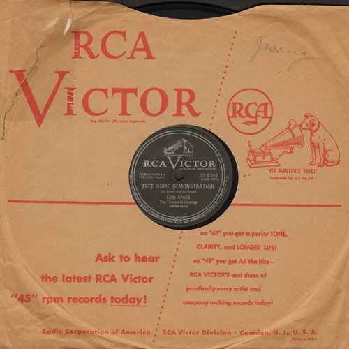 Arnold, Eddy - Free Home Demonstration (RARE Vintage Country-Western Novelty)/How's The World Treating You (10 inch 78 rpm record with RCA company sleeve) - EX8/ - 78 rpm