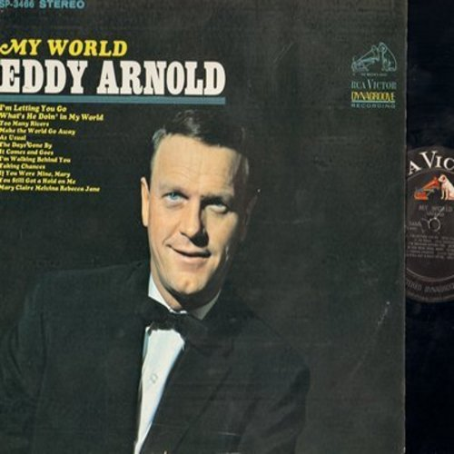 Arnold, Eddy - My World: As Usual, Too Many Rivers, I'm Walking Behind You, Make The World Go Away (vinyl STEREO LP record) - NM9/NM9 - LP Records