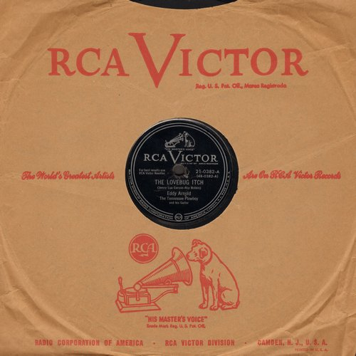 Arnold, Eddy - The Lovebug Itch/A Prison Without Walls (10 inch 78 rpm record with RCA company sleeve) - EX8/ - 78 rpm
