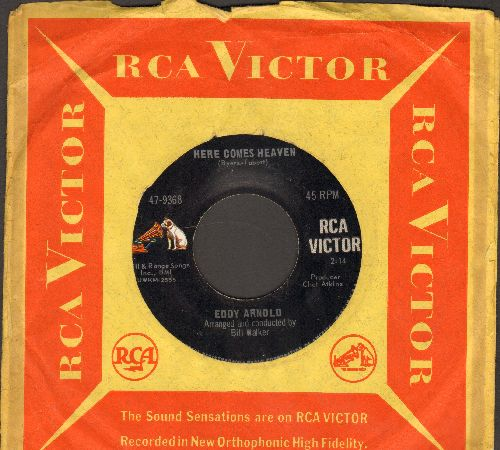 Arnold, Eddy - Here Comes Heaven/Baby That's Living (with RCA company sleeve) - EX8/ - 45 rpm Records