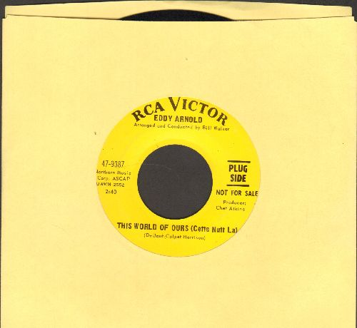 Arnold, Eddy - This World Of Ours (Cette Nutt La)/Jolly Old Saint Nicholas (DJ advance pressing) - NM9/ - 45 rpm Records