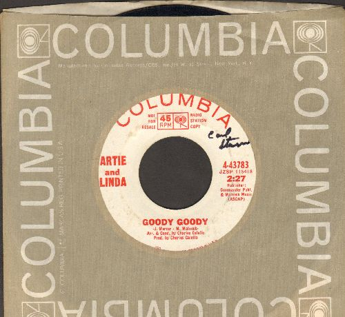Artie & Linda - Goody Goody (double-A-sided DJ advance copy with Columbia company sleeve)(minor wol) - VG7/ - 45 rpm Records