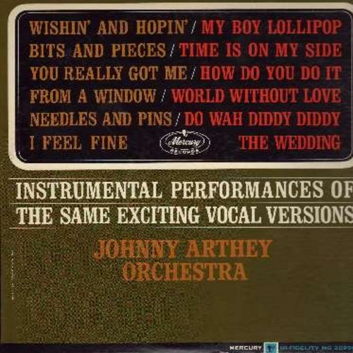 Arthey, Johnny Orchestra - Instrumental Performances Of The Same Exciting Vocal Versions: My Boy Lollipop, How Do You Do It, The Wedding, I Feel Fine, Time Is On My Side, Do Wah Diddy Diddy (vinyl MONO LP record) - NM9/NM9 - LP Records
