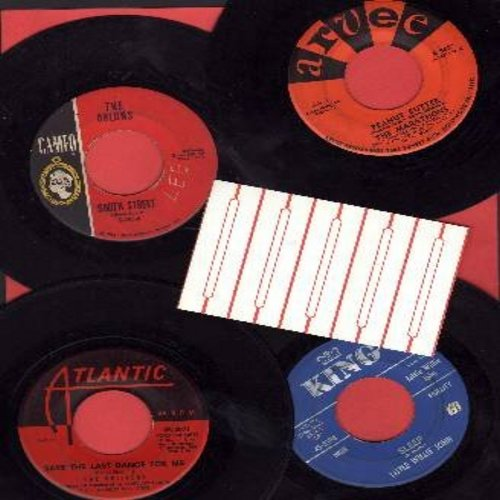 Marathons, Drifters, Orlons, Little Willie John - R&B 4-Pack - 4 Original first issue 45rpm records, all in very good or better condition. Hits include Peanut Butter, South Street, Sleep, Save The Last Dance For Me. GREAT for a juke box! - VG7/ - 45 rpm R