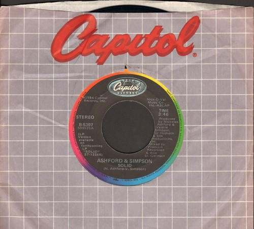 Ashford & Simpson - Solid/Solid (Dub Version) (with Capitol company sleeve) - EX8/ - 45 rpm Records